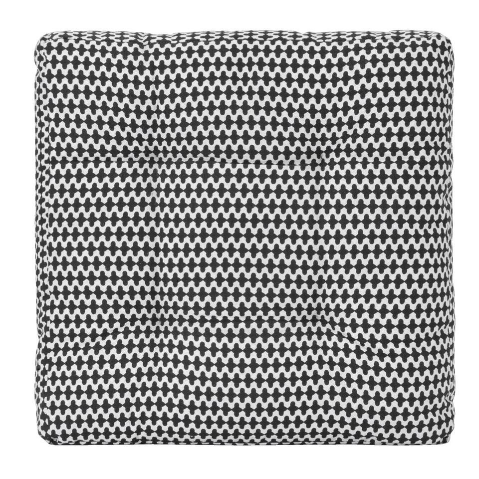 Matraskussen Alaska - zwart/wit - 38x38x6 cm