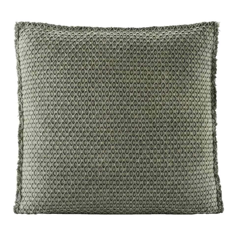 Matraskussen Tess – groen – 45x45x4 cm – Leen Bakker