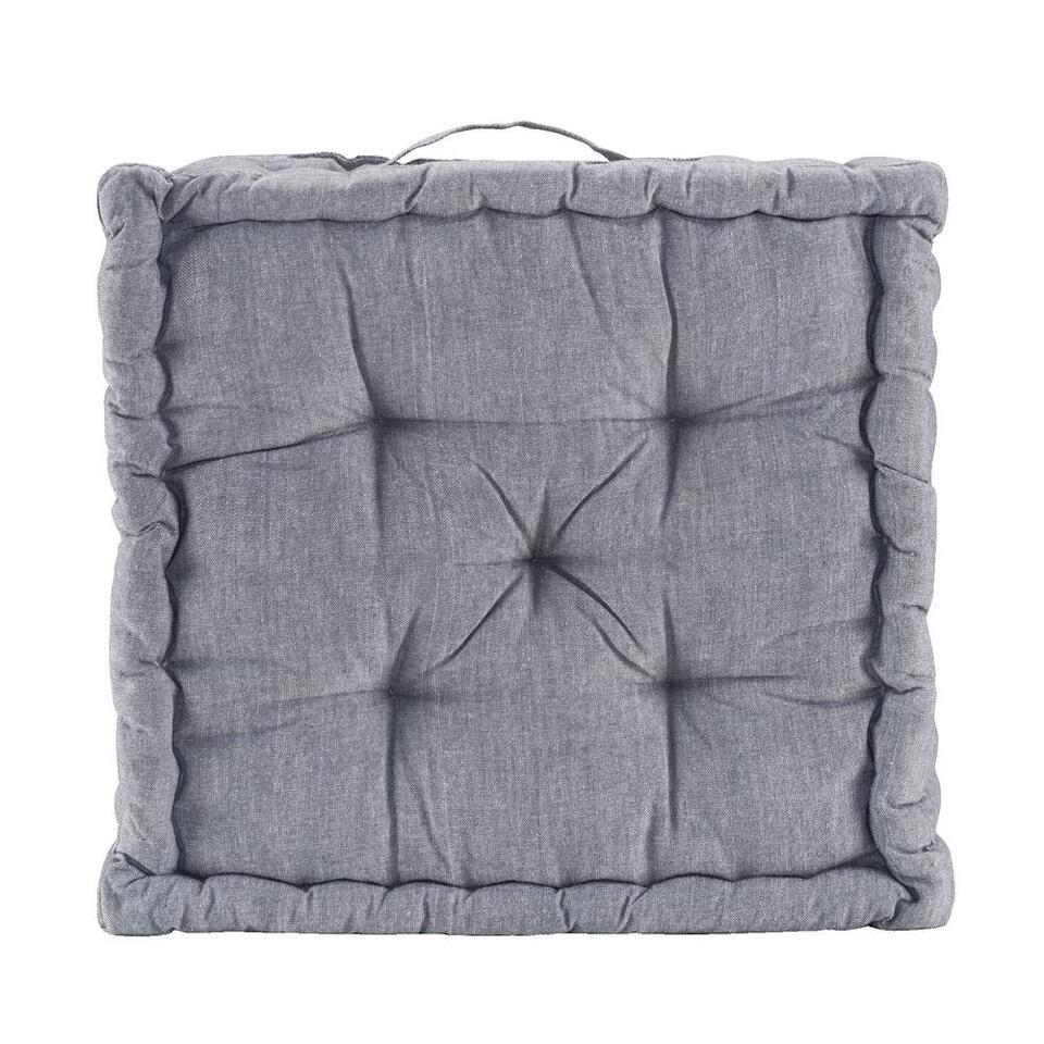 Matraskussen Rens - grijsblauw - 45x45x10 cm
