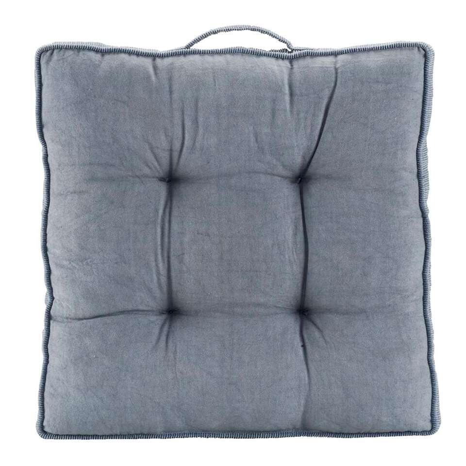 Matraskussen Yann - grijsblauw - 45x45 cm