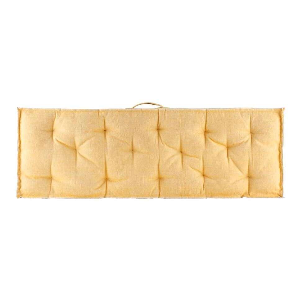 Palletkussen Lucca rug - geel - 40x120 cm - Leen Bakker