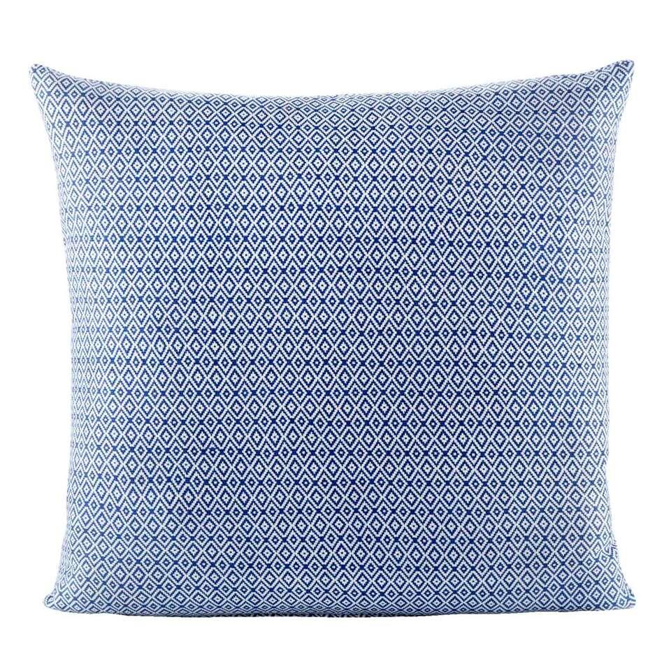 Woonkussen Mike – off-white/blauw – 65×65 cm – Leen Bakker