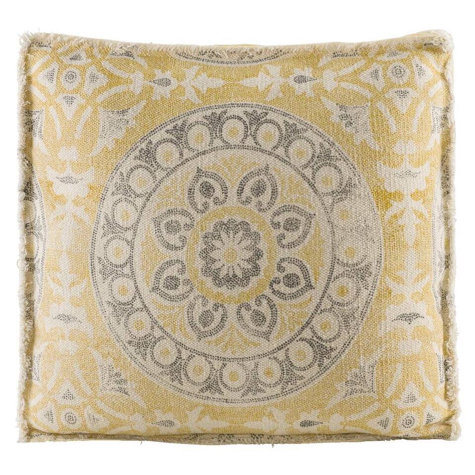 Matraskussen Amira - geel - 45x45 cm
