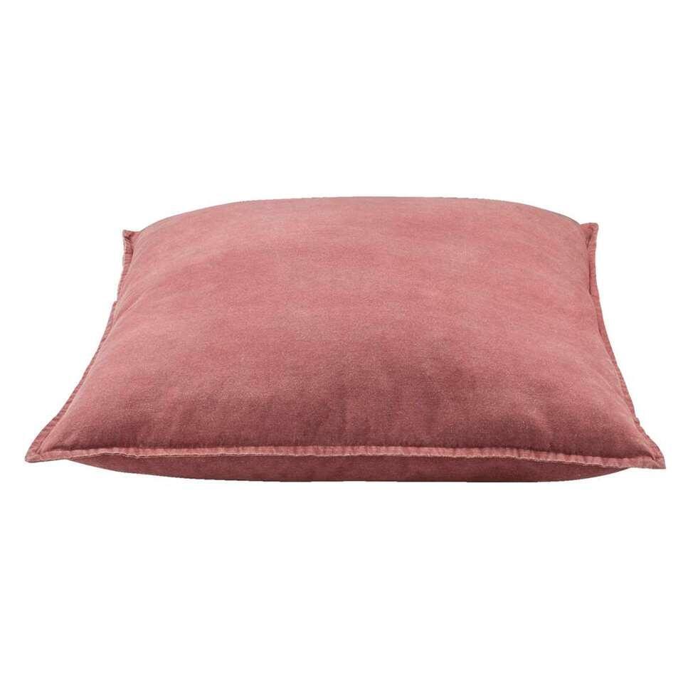 Woonkussen Rik - roze - 65x65 cm