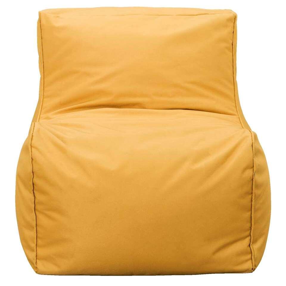 Stoel Lebel zit comfortabel en biedt je de mogelijkheid om heerlijk te ontspannen. De okergele kleur geeft de stoel een opvallende uitstraling.