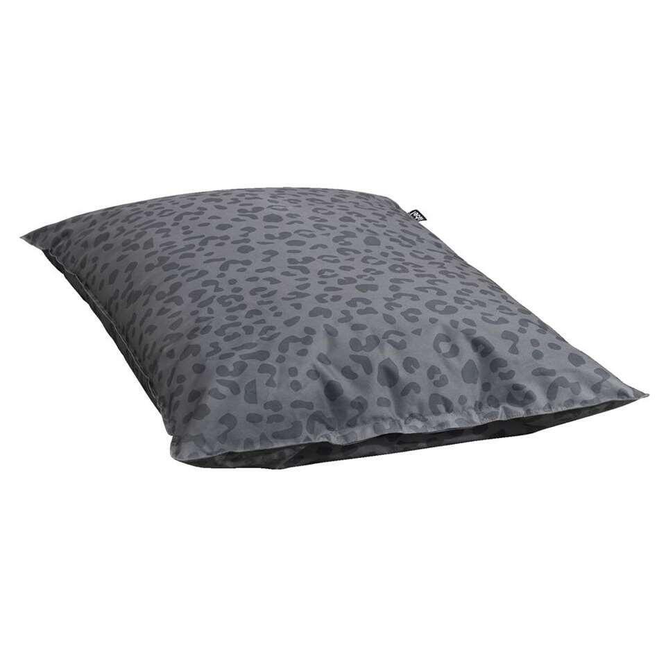 Lebel zitzak Leopard - antraciet - 100x150 cm - Leen Bakker