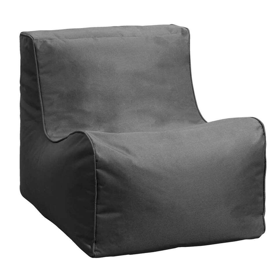 Lebel loungestoel - antraciet - 80x60x65 cm