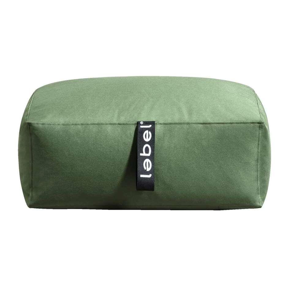 Lebel poef Lounger – groen – 70x45x30 cm – Leen Bakker