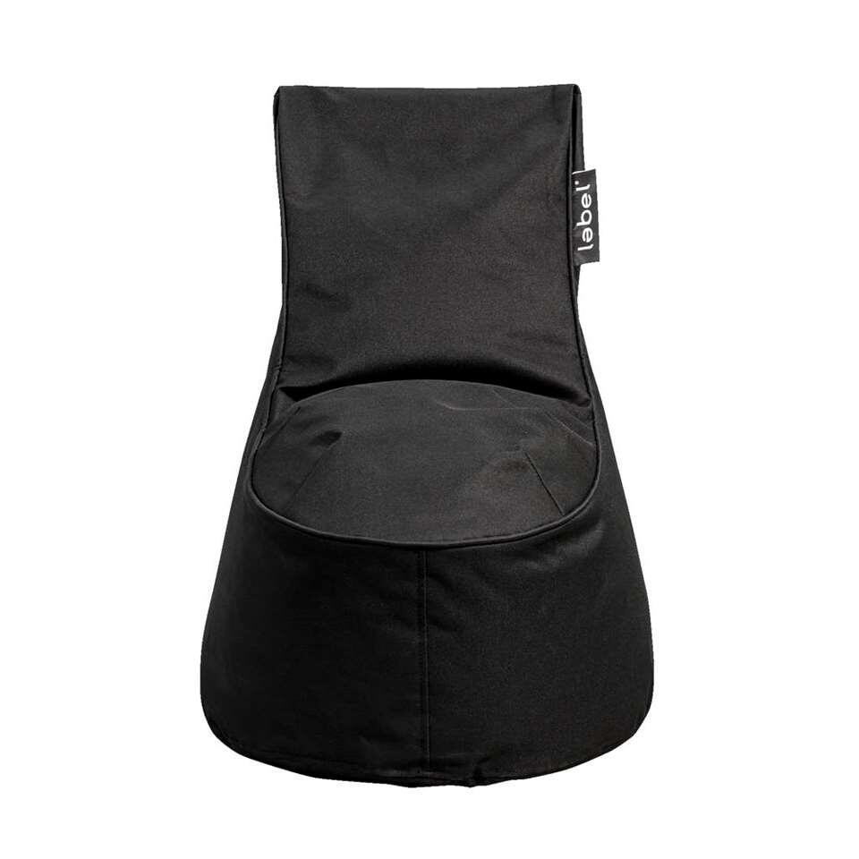 Lebel loungestoel mini - zwart - 65x52x52 cm - Leen Bakker