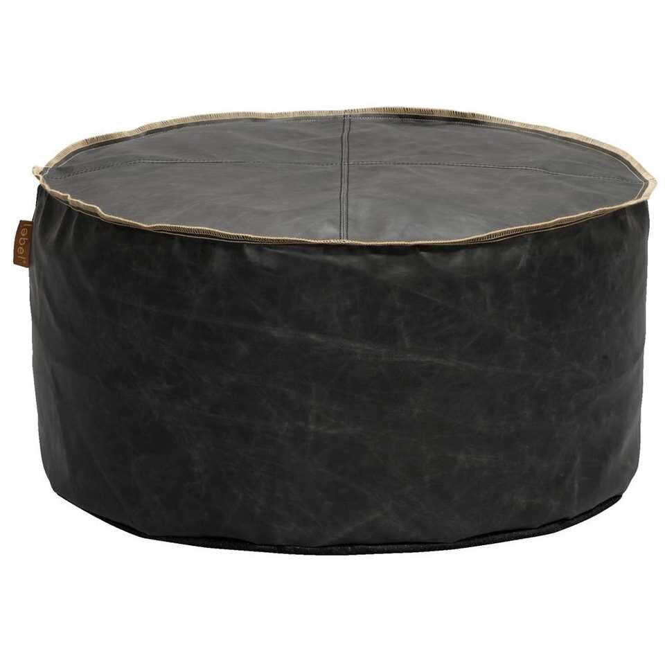 Lebel poef Hugo - zwart - 60x30 cm - Leen Bakker