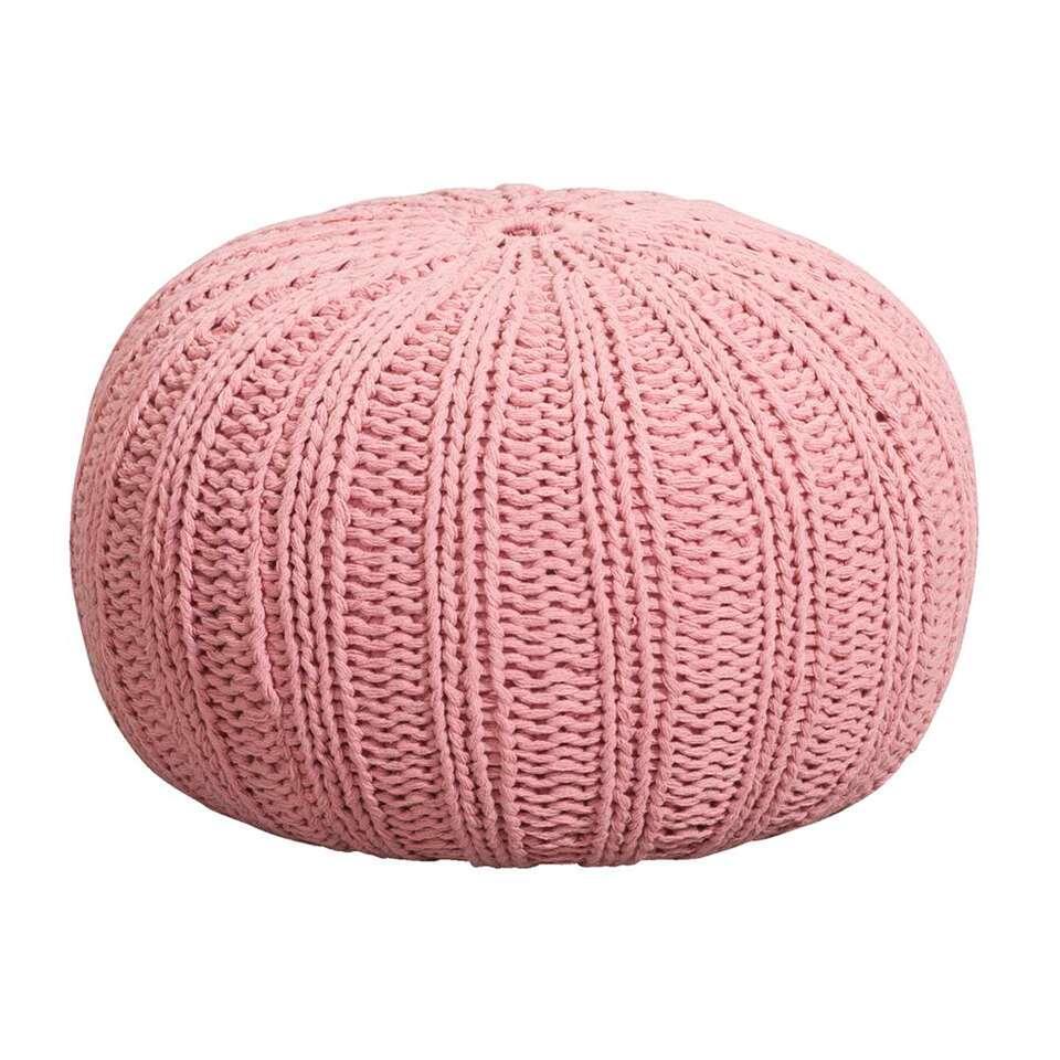 Poef Milou - roze - 46x32 cm