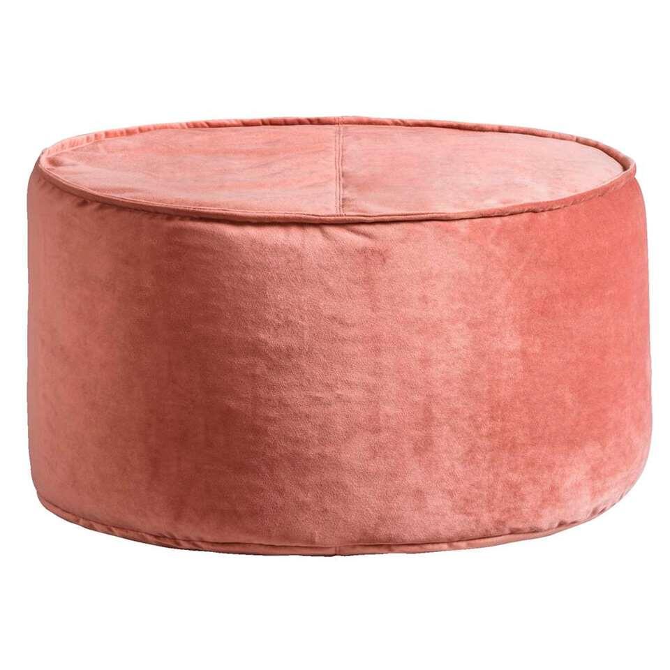 Poef Coco – roze – Ø50×28 cm – Leen Bakker
