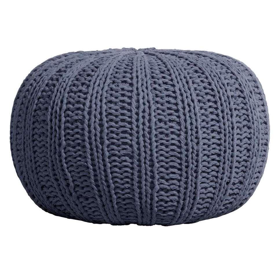 Poef Milou – grijsblauw – 46×32 cm – Leen Bakker