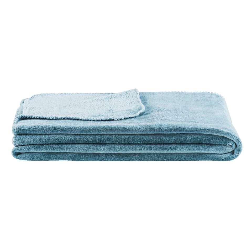 Plaid Supersoft - steenblauw - 150x220 cm