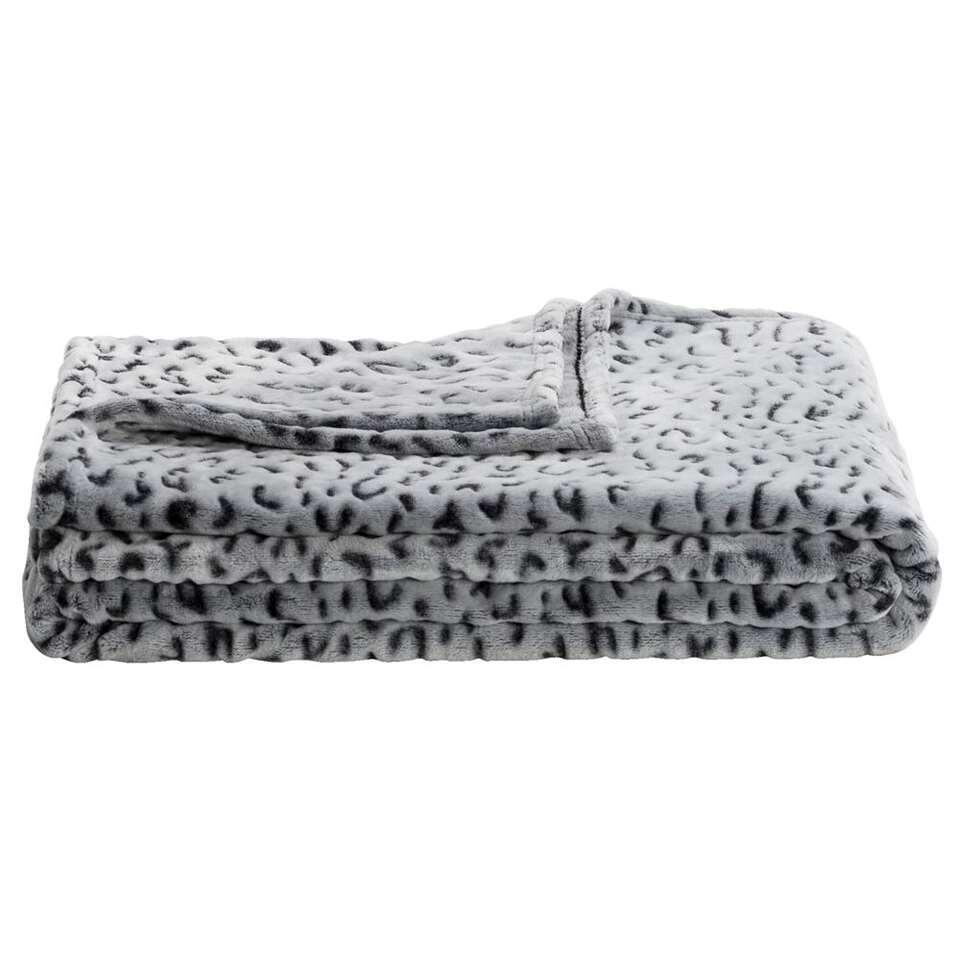 Plaid Manyara - grijs - 130x170 cm