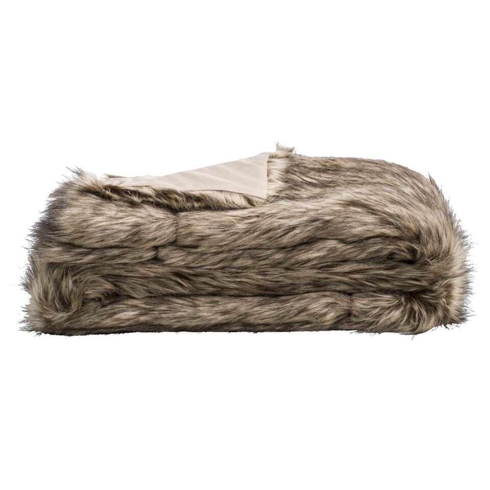 Plaid Joas - bruin - 130x170 cm - Leen Bakker