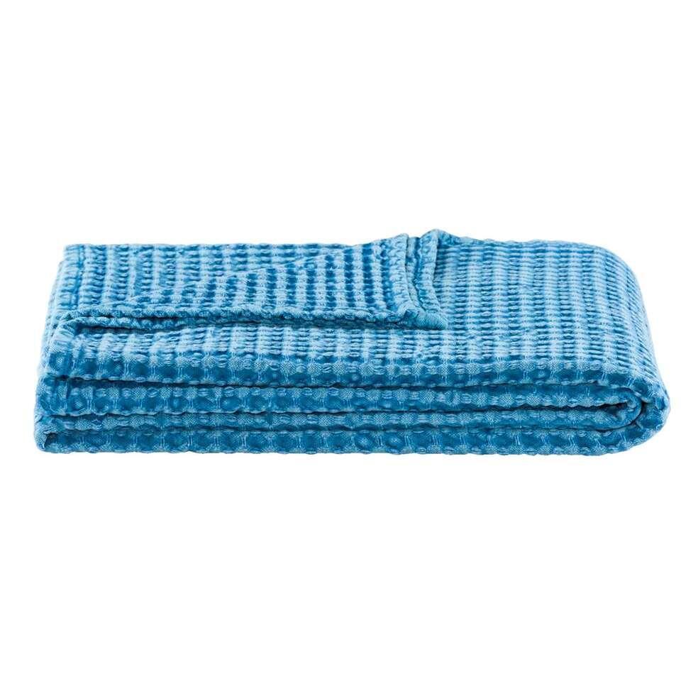 Plaid Mason – blauw – 120×150 cm – Leen Bakker