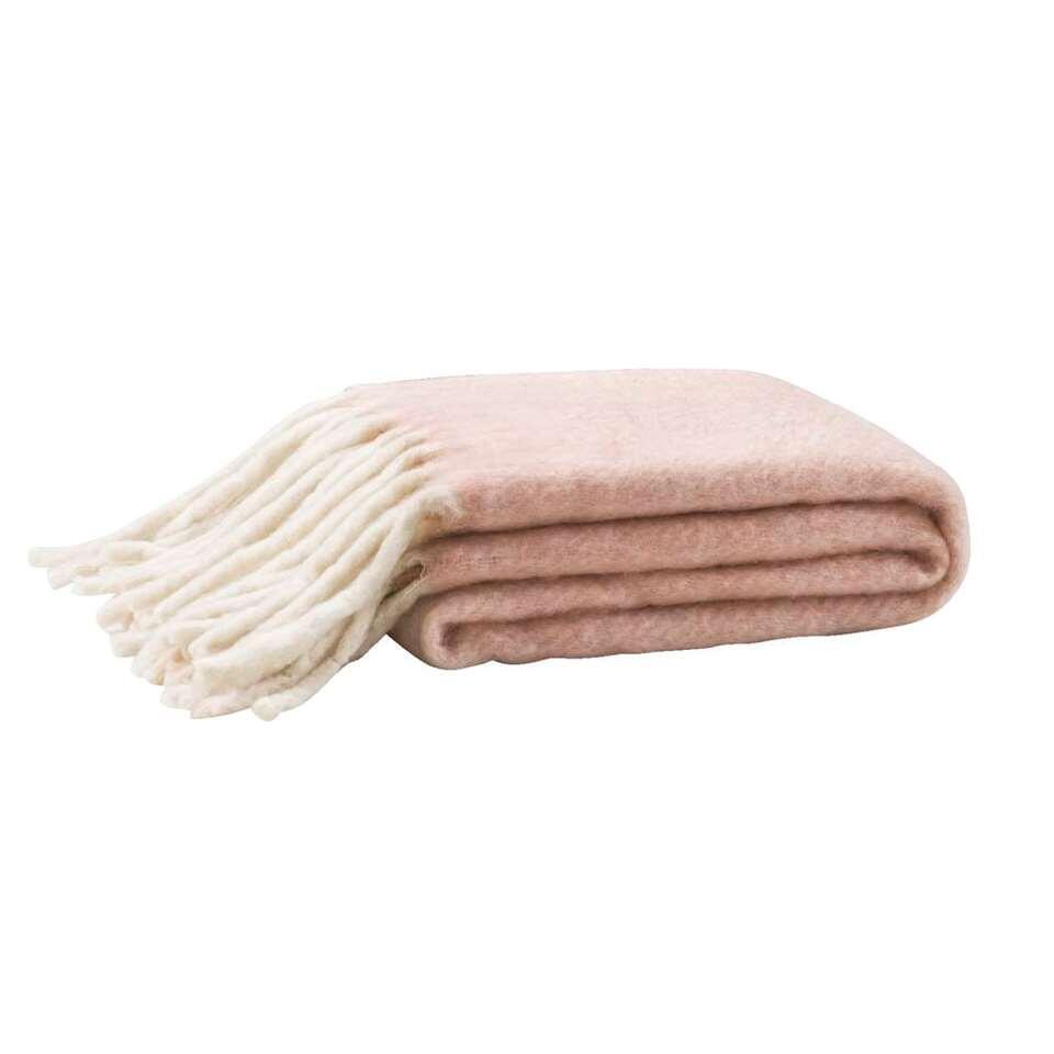 Plaid Riff - roze - 130x160 cm