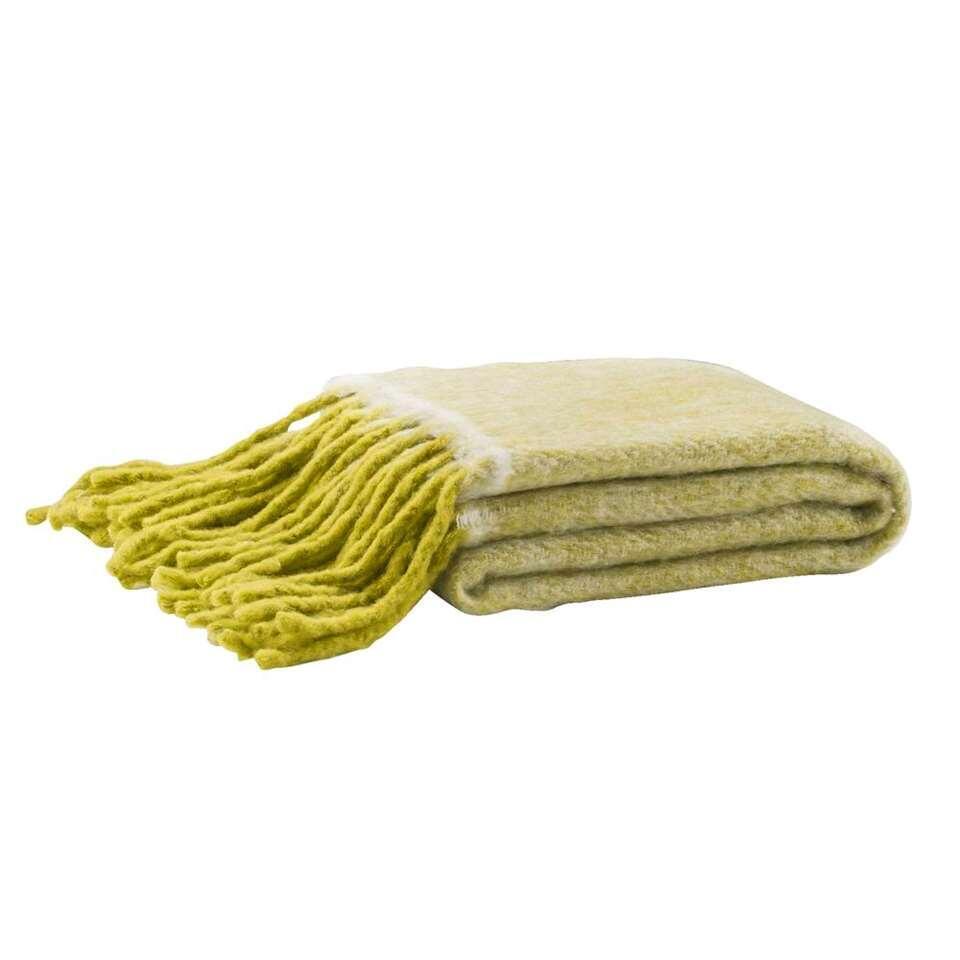 Plaid Riff – lime – 130×160 cm – Leen Bakker