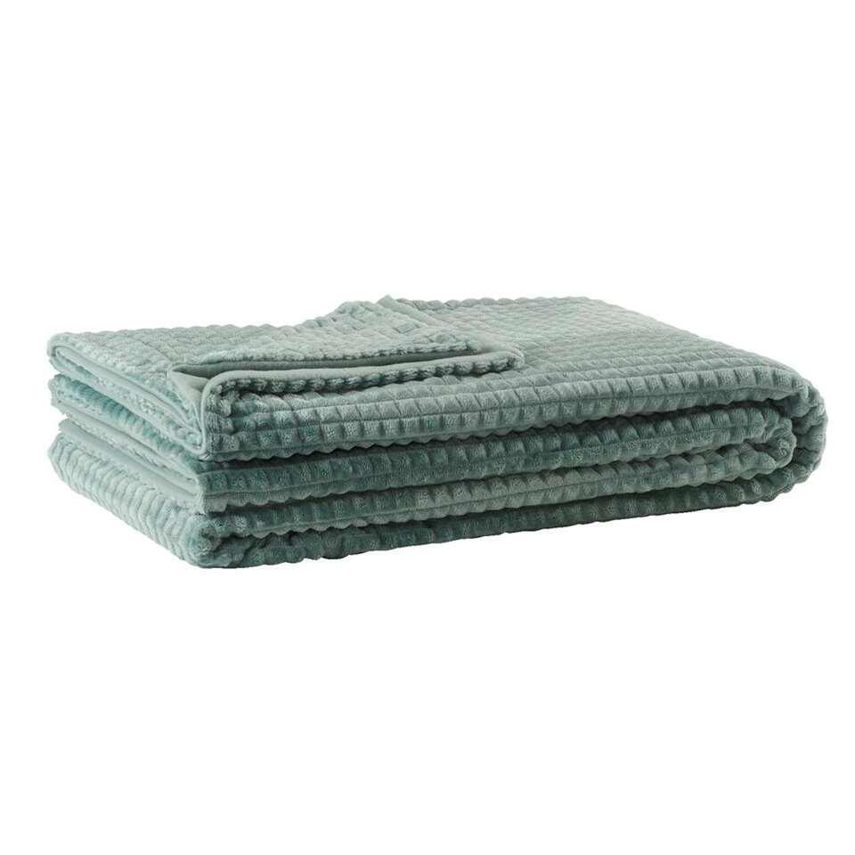 Plaid Kyra - groen - 240x220 cm