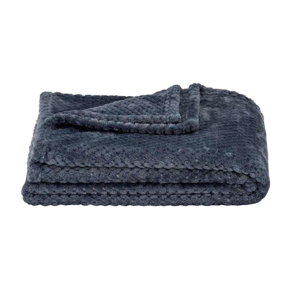 Plaid Ilona - grijsblauw - 130x170 cm
