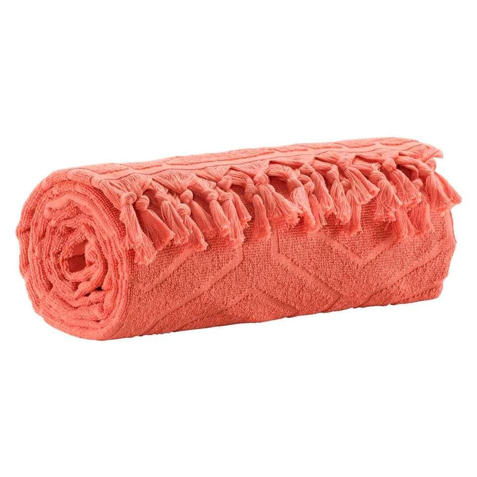 Badlaken Alanya - frisse koraalkleur - 90x170 cm