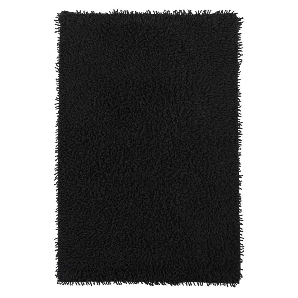 Badmat Dex - zwart - 60x90 cm - Leen Bakker