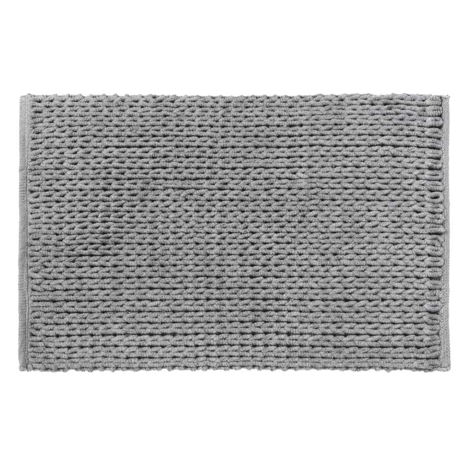 Badmat Shane - antraciet - 60x100 cm - Leen Bakker