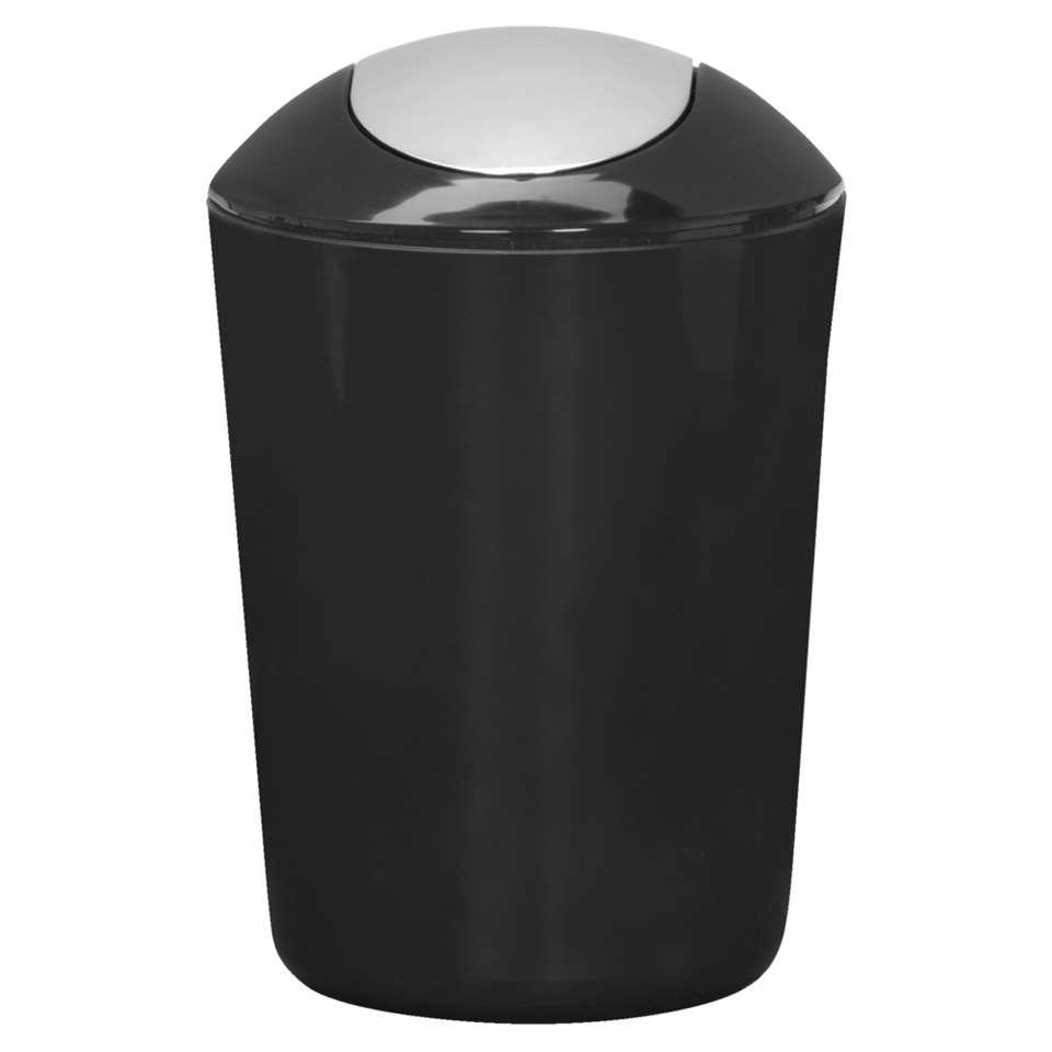 Kleine Wolke afvalemmer Glossy - zwart - 5l - Leen Bakker