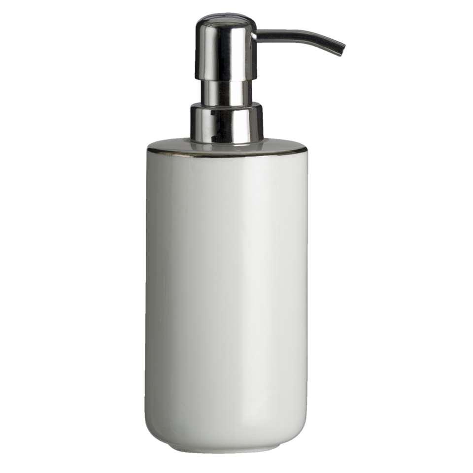 Kleine Wolke zeeppomp Noblesse - wit/zilverkleur - 7x19 cm - Leen Bakker