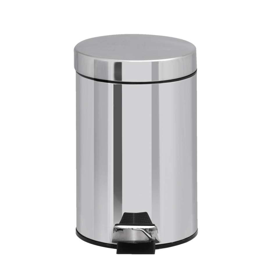 Pedaalemmer RVS - zilverkleur - 3l - Leen Bakker