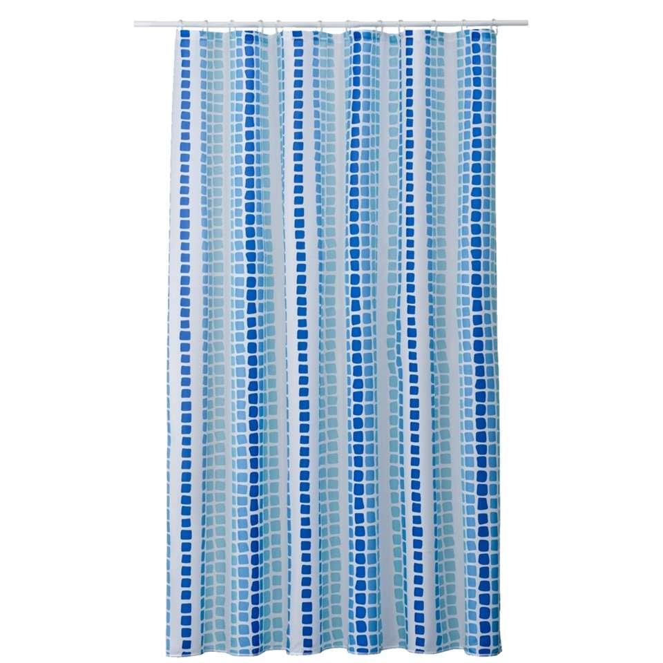 Douchegordijn Tesselo – azuur – 180×200 cm – Leen Bakker