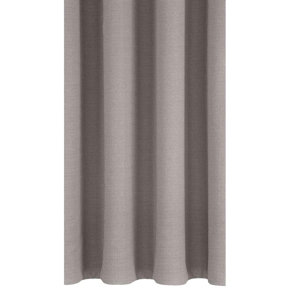 Met gordijnstof June heb je niet alleen een duurzame raambekleding, maar verhoog je ook de sfeer in de ruimte. Deze stof is uitgevoerd in grijs en is gemaakt van 100% polyester.