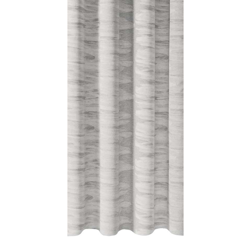 gordijnstof jim heeft een stijlvolle lichtgrijze kleur en verhoogt de sfeer in de slaap of woonkamer
