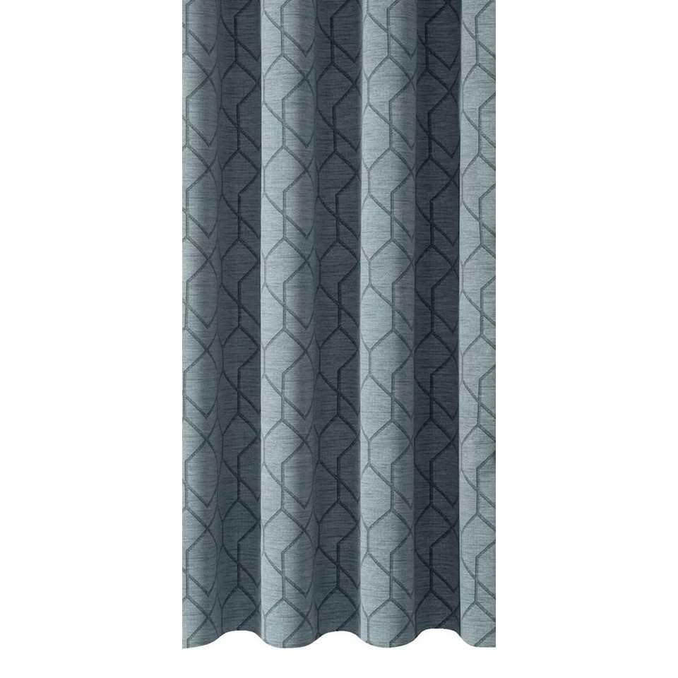 Gordijnstof Reims - grijsblauw