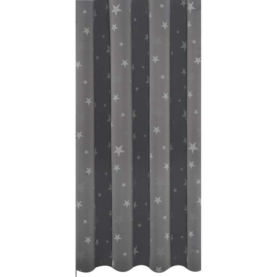 gordijnstof star grijs
