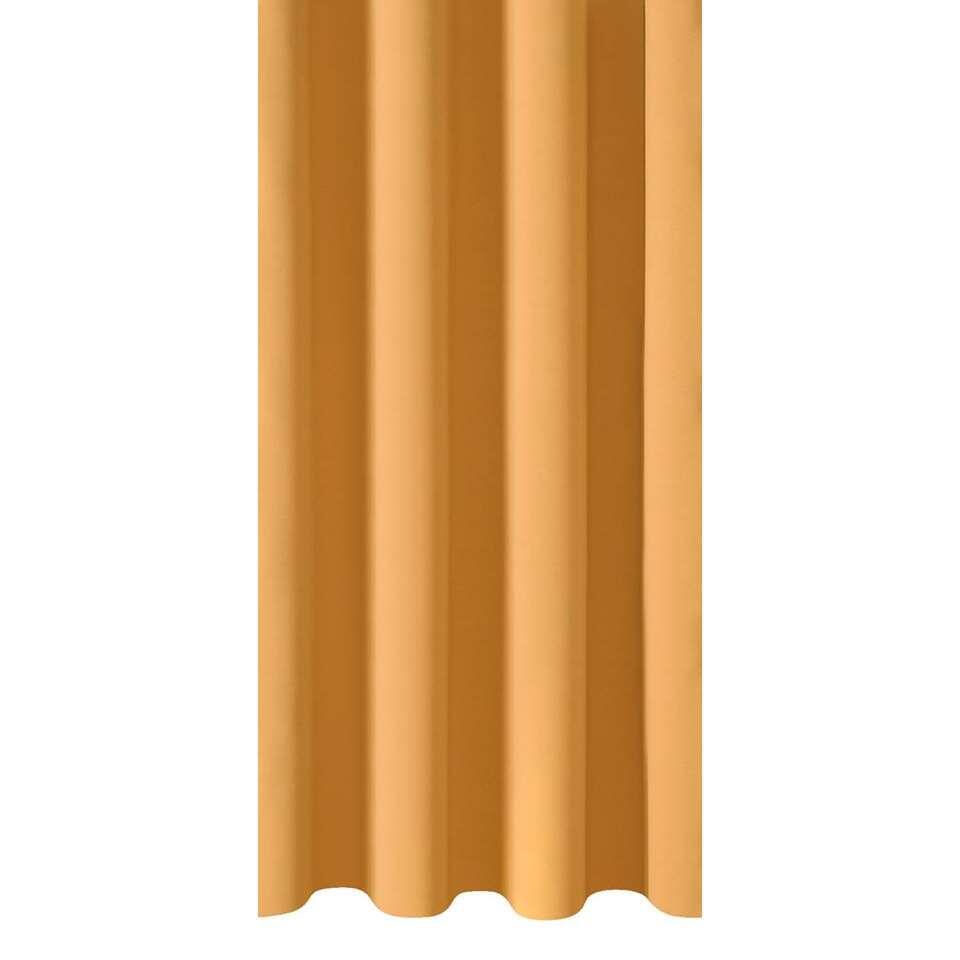 Gordijnstof Como - okergeel - 150 cm
