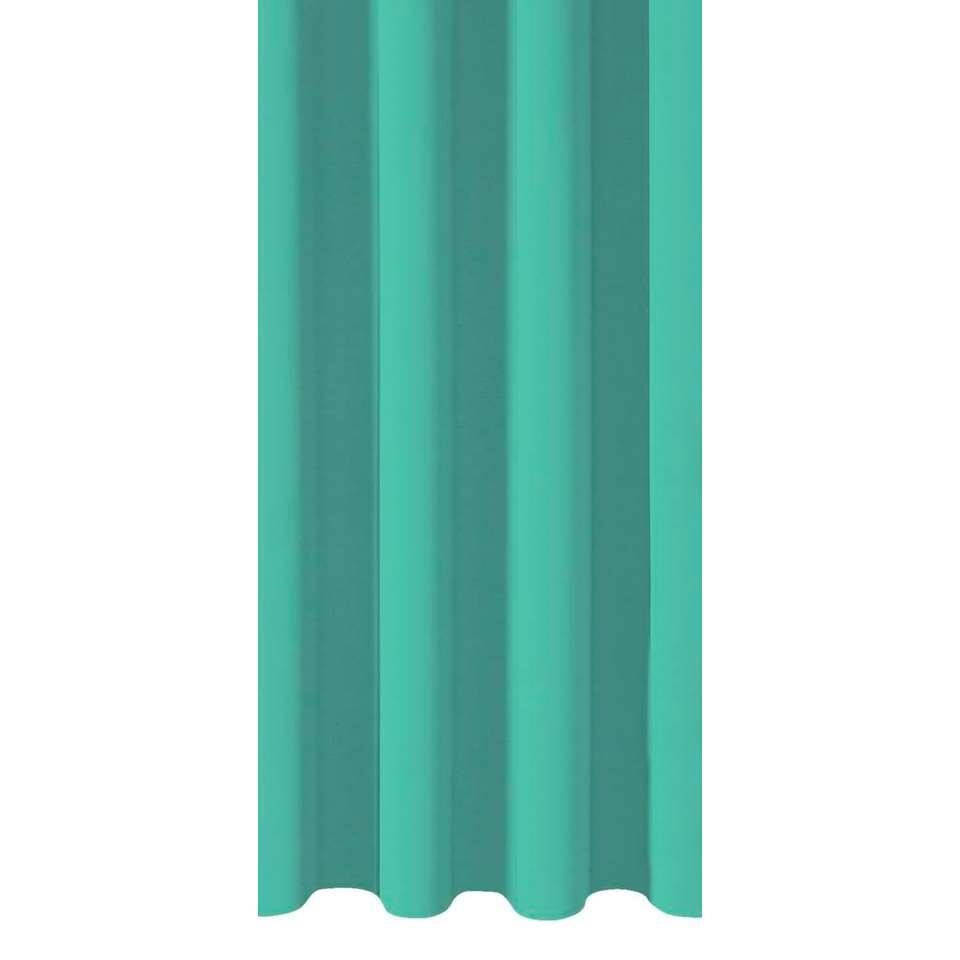 Gordijnstof Como - blauw/groen - Leen Bakker