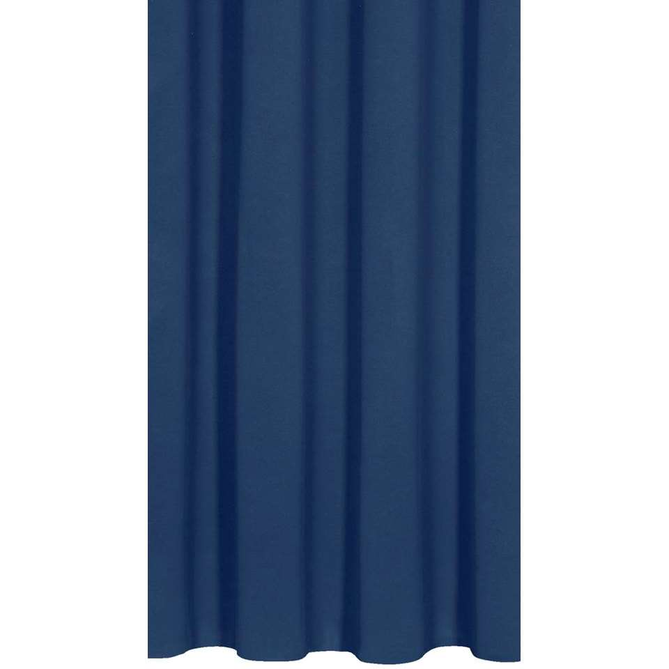 Gordijnstof Como - donkerblauw