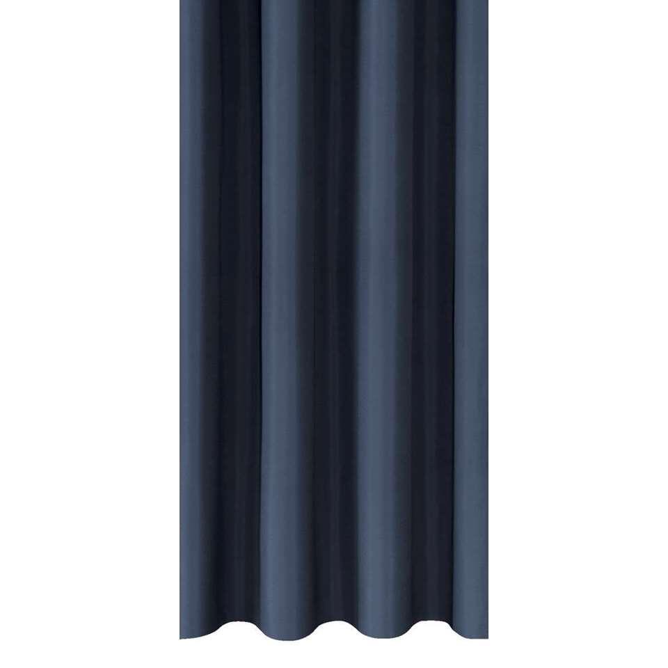 Gordijnstof Marnix - donkerblauw