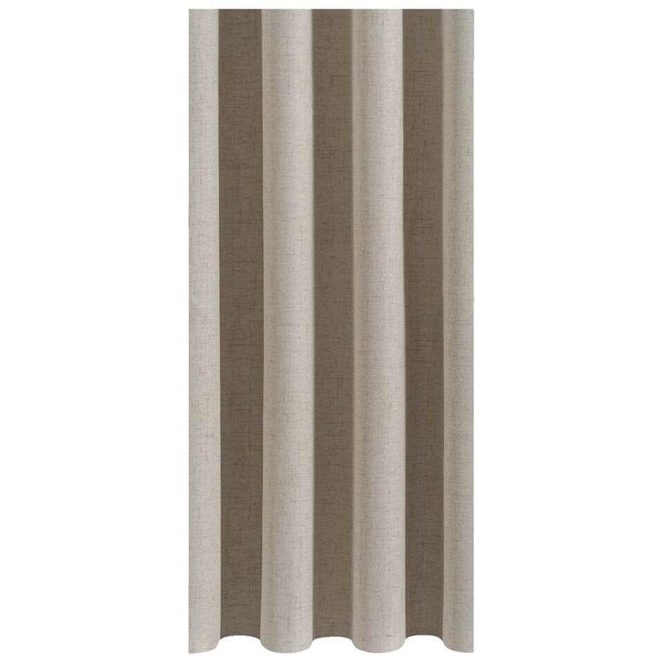 Gordijnstof Ties zorgt voor een warme sfeer in huis. Het gordijn is beige van kleur en kan makkelijk gecombineerd worden met elke interieurstijl. Deze stof is gemaakt van 100% polyester en heeft een landelijk romantische look