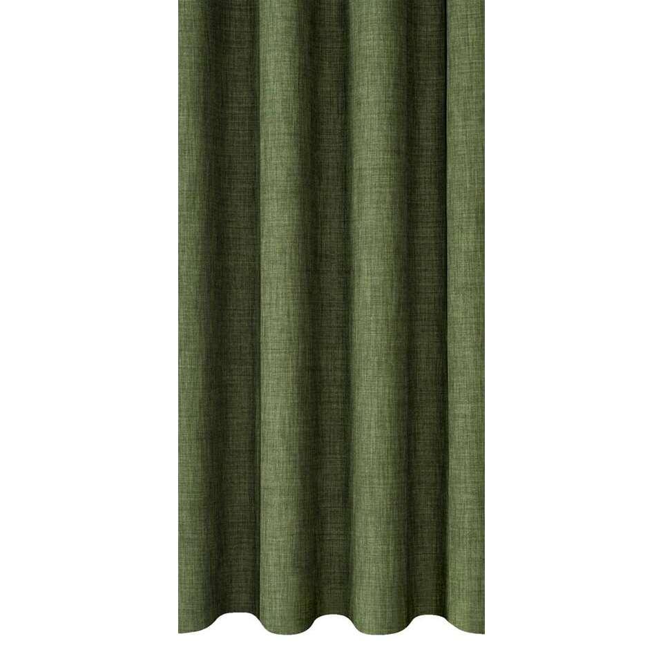 Gordijnstof Sieb heeft een stijlvolle groene kleur en verhoogt de sfeer in de slaap- of woonkamer. Deze sfeervolle gordijnstof is 140 cm breed en kan in elke gewenste lengte geleverd worden.