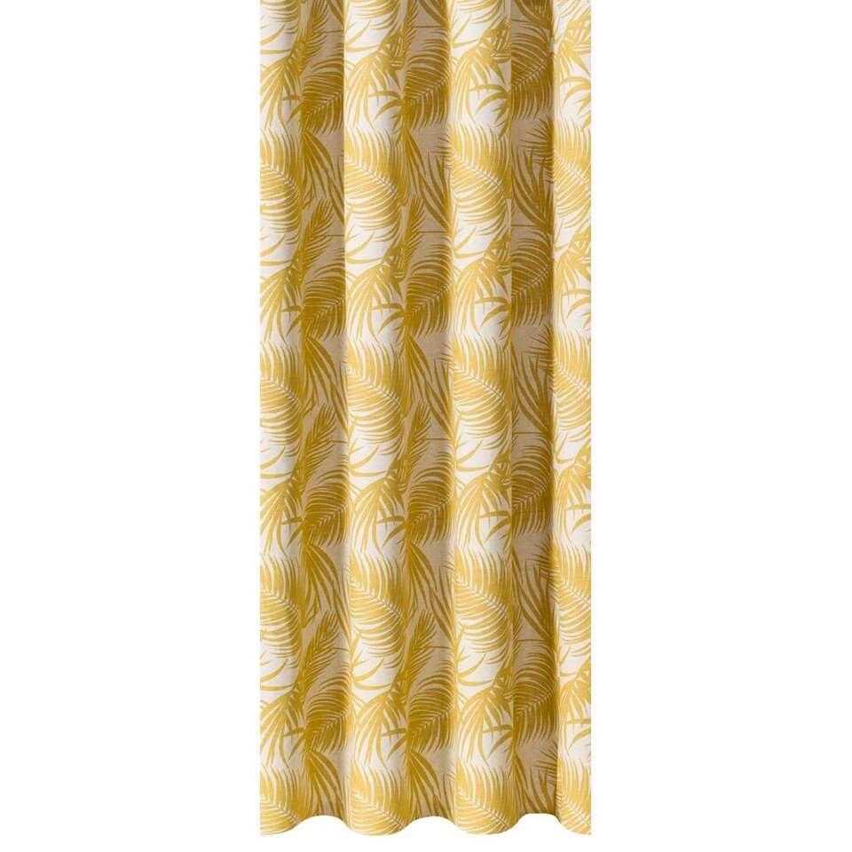 gordijnstof mike okergeel 140 cm