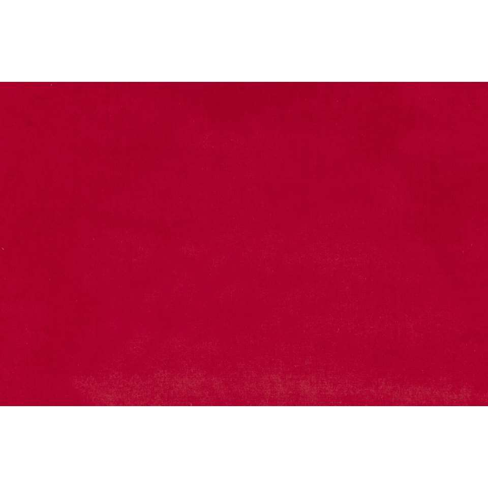 Gordijnstof Victoria - velours - rood