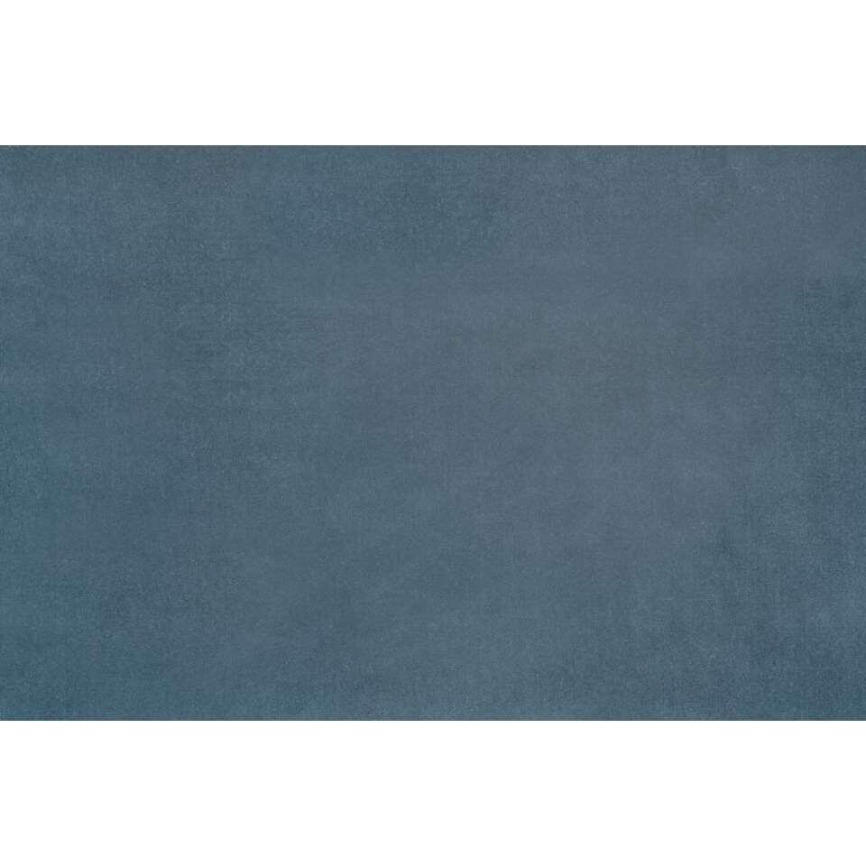 gordijnstof victoria velours steenblauw
