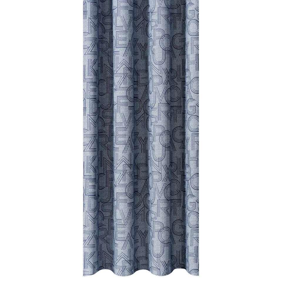Gordijnstof Charlie - blauw - 140 cm - Leen Bakker