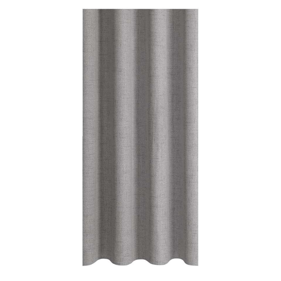 Gordijnstof Noud is een lichtgrijze stof van 100% polyester. Deze stof heeft een chique uitstraling en een eigentijdse look.