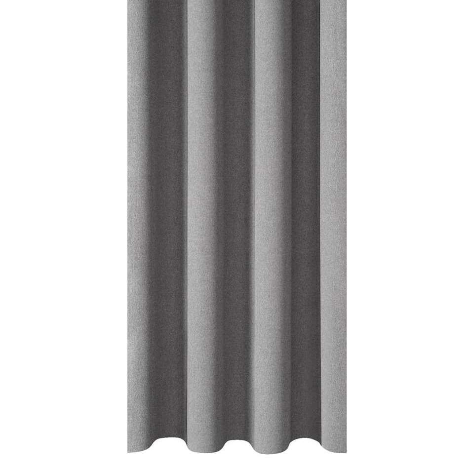 Gordijnstof Leonard - grijs - 150 centimeter
