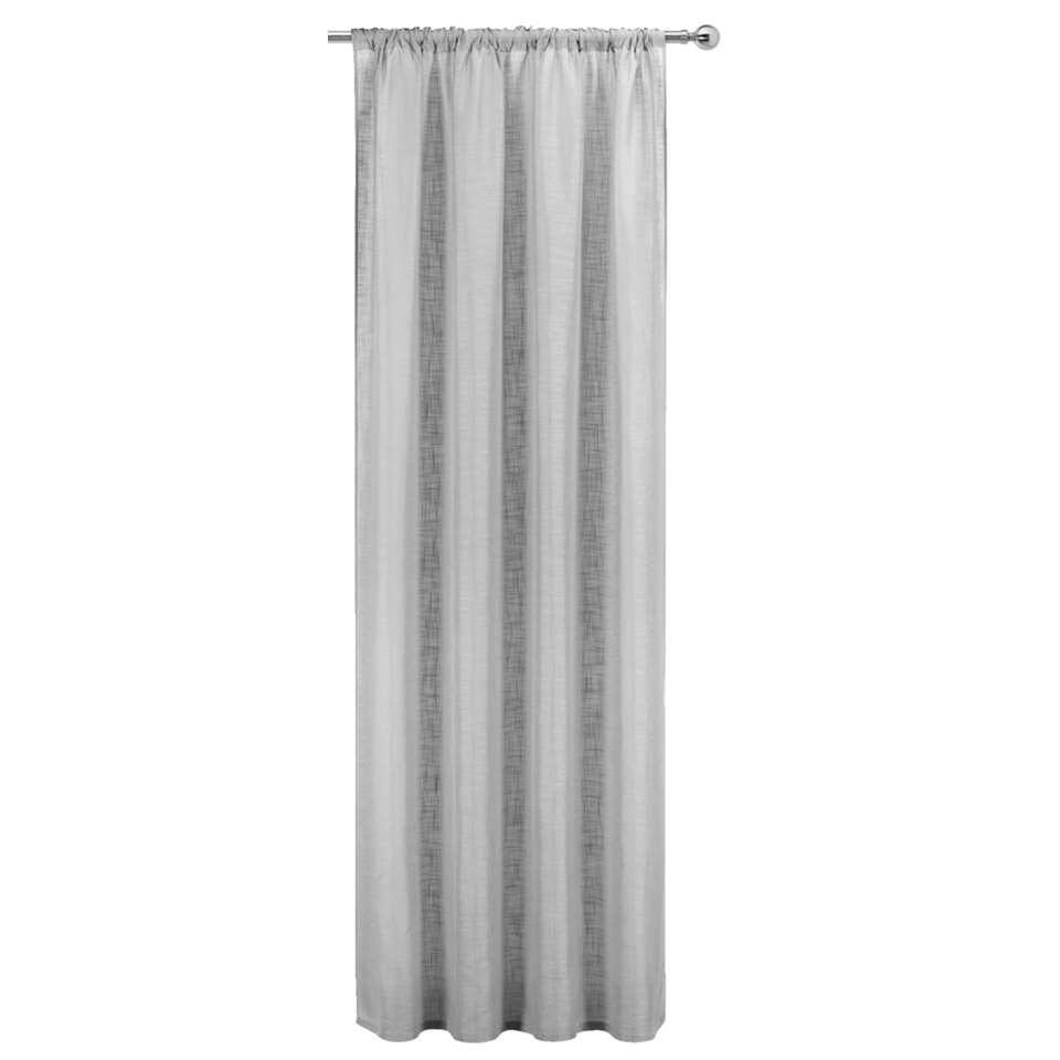 Gordijn Koert - grijs - 280x140 cm (1 stuk)