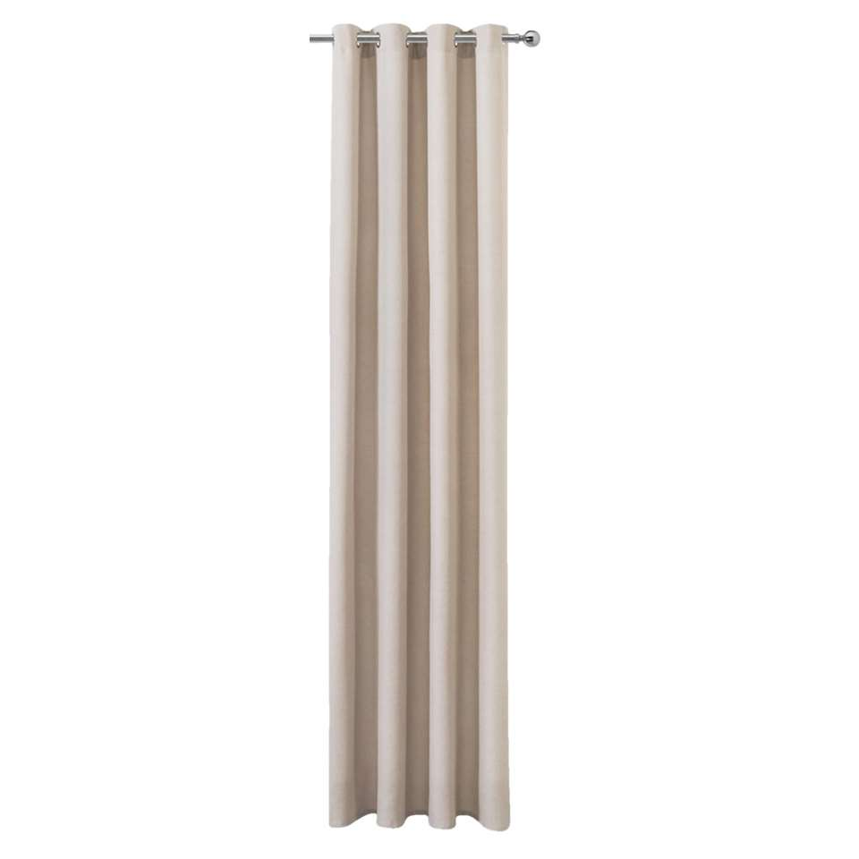 Gordijn Peter is een kant en klaar gordijn in de een stoere beige kleur en heeft een afmeting van 280x140 cm. Het gordijn staat mooi in de woon- of slaapkamer.